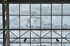 Frosty windows (jimmiesp) Tags: winter light white abstract building window wet glass weather architecture nikon day cityscape ceiling architectural frostywindow mnstate d5100 dpsweather 1685mmnikor