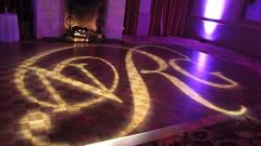 Purple Lighting - Monogram Projection - Barton Creek Country Club