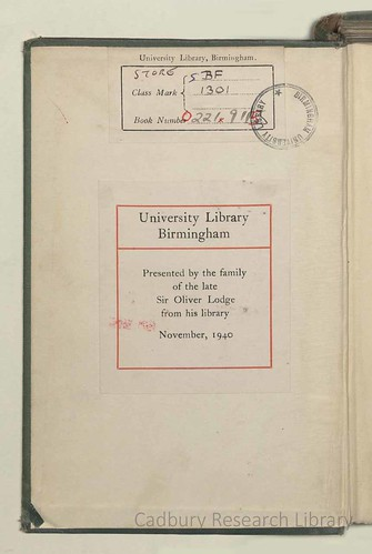 42b Oliver Lodge, 'Raymond Revised, a new and abbreviated edition of 'Raymond or Life and Death' with an additional chapter', 1932. Cadbury Research Library