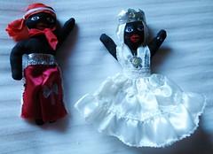 2014-01-15 Cuba, Trinidad - Orishas Elegua (l.) and Obatala (Travel With Olga) Tags: religion cuba saints culture belief westafrica gods christianity santeria yoruba afrocaribbean orishas obatala elegua