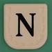 Line Word black letter N