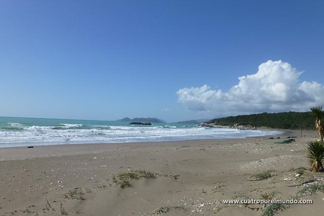 Vista de la playa poco antes de Demre