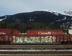 YEAH, GLOER (YardJock) Tags: art graffiti spraypaint boxcar etch hopper ep 2007 freighttrain railwaytracks rollingstock gondala gloe moniker benching kbt paintedsteel benchreport