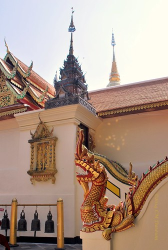Wat Phrathat Doi Suthep Dragon and Bells