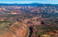 Sycamore Canyon (Explore) (Eric Gofreed) Tags: arizona sedona aerialphoto aerialphotography sycamorecanyon lambad