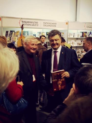 Petro Poroshenko (right)