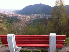 red bench (Hayashina) Tags: red bench romania brasov hbm uploaded:by=flickrmobile flickriosapp:filter=nofilter