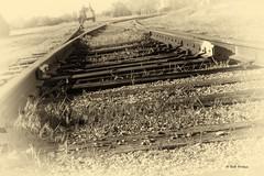The Old Tracks_MG_2970 (Kool Cats Photography over 7 Million Views) Tags: blackandwhite oklahoma museum canon artistic tracks railway historic oklahomacity railroads yabbadabbadoo oklahomarailwaymuseum pailway