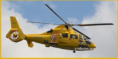 OO-NHV with Coastguard Titles. (NikonDirk) Tags: coastguard rescue dutch foto belgie noordzee helicopter pedro service belgian dauphin pilot vlaanderen aerospatiale belgische sa365 kustwacht nhv hulpverlening oonhx nikondirk oonhv