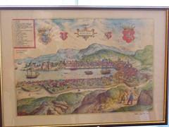 Mapa/obraz Bergen | Bergen painting/map