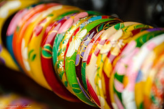 Colorful Bangles in Yongshuo, Guilin, China