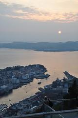 Zachód słońca nad Bergen | Sunset over Bergen