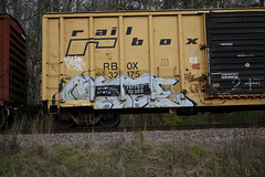 Cloze (Revise_D) Tags: graffiti tags graff tagging freight revised cloze trainart rfr fr8 bsgk flv benching upsk fr8heaven revisedesigns benchingsteelgiants