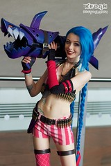 IMG_6308 (Neil Keogh Photography) Tags: pink blue black shark cosplay armour rocketlauncher mcmcomicconmanchester2015