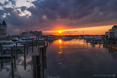 Cape May Sunset (RyanKirschnerImages) Tags: sunset reflection water clouds marina sunrise landscape nj capemay jerseyshore