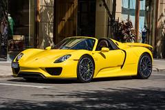 Porsche 918 Spyder (scott597) Tags: ranch columbus ohio yellow for town rally center spyder porsche easton 918 2015