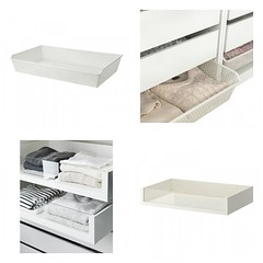 Pull-Out Metal Basket & Glass Front Drawer (Heath & the B.L.T. boys) Tags: ikea closet lace organize storage glass drawers