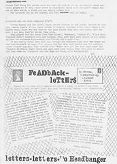 Feedback (stillunusual) Tags: headbanger fanzine punkfanzine punkzine punk punkrock newwave 1979 1970s