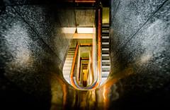 To The Basement (Sean Batten) Tags: mathematics sciencemuseum wintongallery spiral staircase nikon d800 1424 london england unitedkingdom gb steps city urban