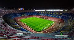Nou Camp (Daniel Zwierzchowski) Tags: barca barcelona fcb fcbarcelona campnou football stadium field night lights sport architecture architektura stadion spain catalunya espana travel canon 1022mm t2i rebel 550d eos550d eos laliga