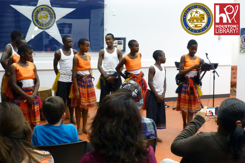 Ugandan Orphans Choir at the Houston Public Library