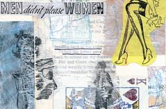 Bend Back At The Waist (GallivantingGirl) Tags: art collage paper newspaper artwork mixedmedia vintageephemera