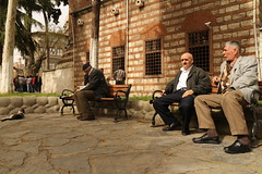 The elderly (InArtsWeTrust) Tags: old men turkey istanbul mosque