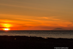 Sunset @ Garskagi (Kjartan Gumundur) Tags: sunset sea canon iceland glacier sland 650d canonef70300mmf456isusm canoneos650d kjartangumundur