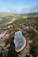 Grindsbrook Views (matrobinsonphoto) Tags: morning light cloud mist mountain nature fog sunrise landscape hope dawn golden early rocks heather district derbyshire hill peak scout kinder valley hour clough edale grindsbrook