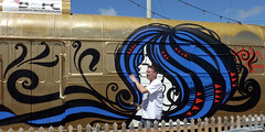 2013-06-15 a 627 and Inkie (Blackpool Tram) Tags: street urban art tram brush blackpool 290 627 inkie