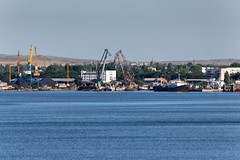 Kerch 60 (Alexxx1979) Tags: city sea summer port crane july ukraine crimea blacksea 2012      kerch