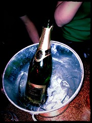 Champagne ahoy! (roberteklund) Tags: uk greatbritain england london spring pub unitedkingdom camden champagne indoor vr dublincastle 2013 storbritannien uploaded:by=flickrmobile flickriosapp:filter=peacock peacockfilter