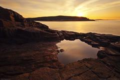 Acadia Tidal Pool (Greg from Maine) Tags: vacation reflection sunrise maine newengland barharbormaine tidepool acadia barharbor acadianationalpark 2353 platinumheartaward
