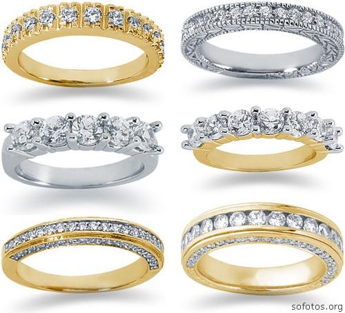 Alianças de noivado e casamento com diamante