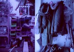 basement details (pho-Tony) Tags: blue color 35mm lens 1 lomography purple shift cast infrared mauve halfframe fullframe ultrawide xr blend lcw c41 17mm ultrawideangle superwide 100400 tetenal lomochrome lcwide lomolcw lomolcwide minigon17mm minigon lomochromepurple xr100400 lomochromepurplexr100400 lomocrome filmlomochromepurple