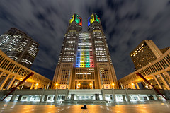 Tokyo Metropolitan Government Building at night (nakajimalassie) Tags: japan night tokyo shinjuku view government metropolitan geocity camera:make=canon exif:make=canon exif:iso_speed=100 exif:focal_length=13mm nakajimalassie geostate geocountrys exif:lens=1224mm exif:aperture=90 exif:model=canoneos5dmarkiii camera:model=canoneos5dmarkiii