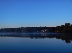 Misty blue morning (yogalady) Tags: morning color waterfront warren chilly