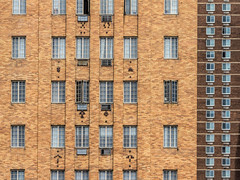 Apartment Windows (Darren LoPrinzi) Tags: street city windows urban building brick texture philadelphia architecture canon buildings pattern centercity patterns streetphotography philly urbanfragments canoneos7d canon7d