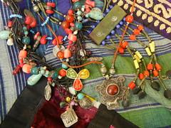 a jumble of turkmen necklaces