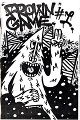 """""""Frown Game"""" #1, 2013 by Roswelly (fotoflow / Oscar Arriola) Tags: street usa chicago zine game art america graffiti 1 us diy illinois midwest drawing no character united tags il number american states vol frown volume photocopied 2013 roswelly frowngame"""