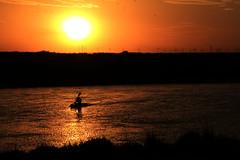 kayak (AgustnCarrillo) Tags: sunset rio puerto atardecer kayak union playa el verano elsa chubut trelew rawson agustincarrillo