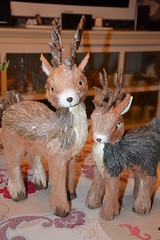 Family Deer (MissLilieDolly) Tags: dcoration de nol christmas decoration suspension hanging guirlande garland boule ball personnage characters figurine figure sapin fir lumineuse tree bright light collection family deer famille biche pre santa claus missliliedolly miss lilie dolly aurelmistinguette
