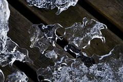 downward path (blairware) Tags: winter reflection ice slats contrasts voids lacunae