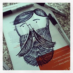 Don't fear the Beard! (waltersilvausa) Tags: bear man valencia illustration square beard drawing doodle squareformat freehand sharpie doodles sketches markers lumberjack iphoneography instagramapp
