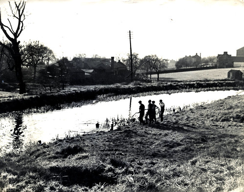 Forth And Clyde Canal From Ruchazie Side 1950