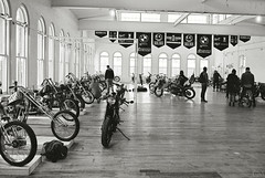 the 1 moto show 2014 (Garrett Meyers) Tags: show white black max film bike vintage 1 iron photographer hand air made moto motorcycle 4q panhead shovelhead knucklehead 2014 mucci garrettmeyers shaaf