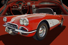 1960 Corvette Convertible (Brad Harding Photography) Tags: chevrolet antique ottawa convertible chevy chrome kansas corvette 60 vette sportscar 1960 2014 6thannual moonhubcaps corvetteclubcarshow