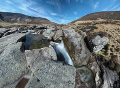 Water of Lee (D4199675-batch 0p3 E-M1 9mm iso200 f8 1.6s) (Mel Stephens) Tags: uk panorama water landscape scotland waterfall spring long exposure angus olympus panoramic glen le april scape zuiko stitched 43 omd 2014 em1 esk ptgui m43 fourthirds mirrorless microfourthirds 918mm 201404 20140419