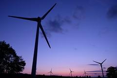 DSCF7493 (M.Murakami) Tags: sky twilight   fukushima konan    windpowergeneration