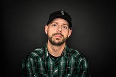 This is me (aepoc) Tags: light me hat shirt blackbackground self buttons baseballhat cap button studiolight greenshirt aepoc strobist buttonedshirt